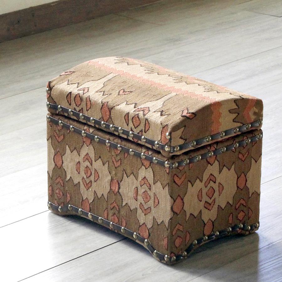 オールドキリム木製家具・宝箱Sサイズ・シャルキョイ