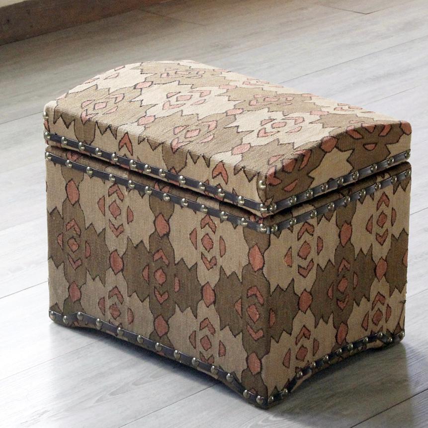 オールドキリム木製家具・宝箱Mサイズ・シャルキョイ