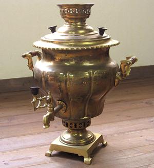 木炭で湯を沸かすクラシカルな茶器ロシアン・サマワール【送料無料】【kdsm_送料無料】