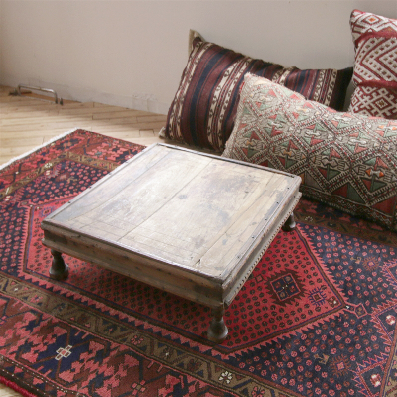 Indian Reclaimed Wood Coffee Table: GalataBazaar: Antique Wooden Coffee Table Furniture From