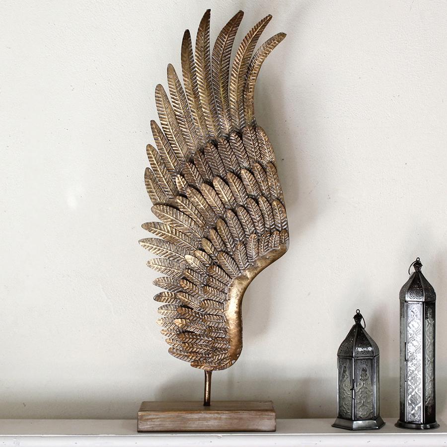 アンティークスタイル ウィングオブジェ H84×W28cm wing object metal