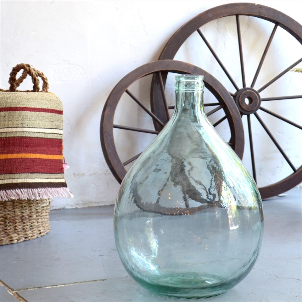 ガラスボトル テラリウムボトル フラワーベース 高さ43cm 直径30cm