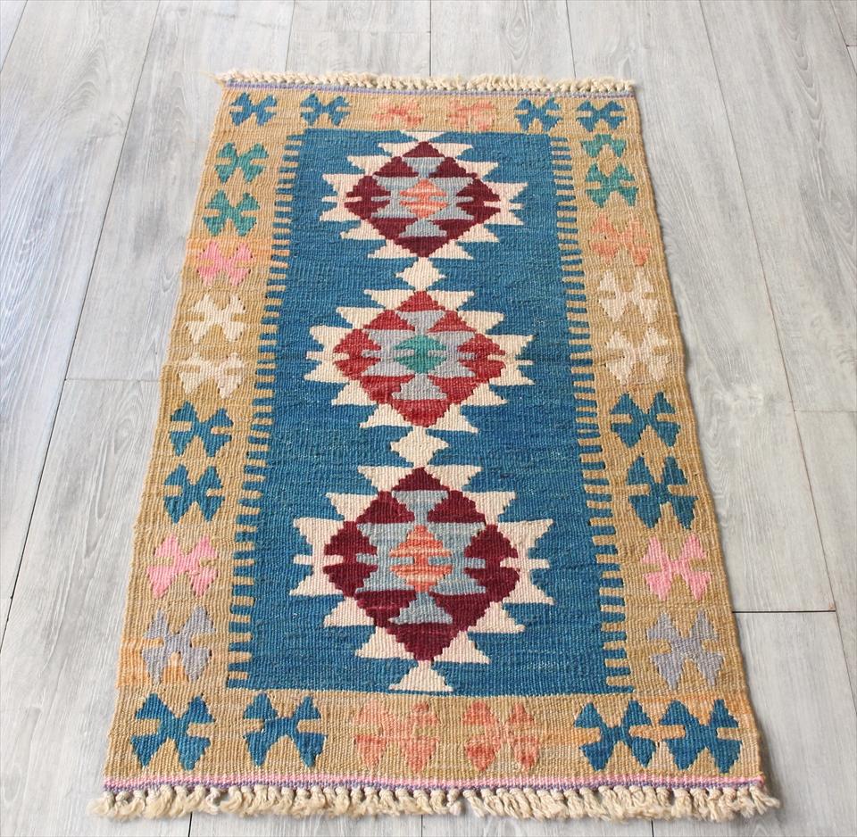 色にこだわる~ワンランク上のカイセリ産手織りキリム91×53cm