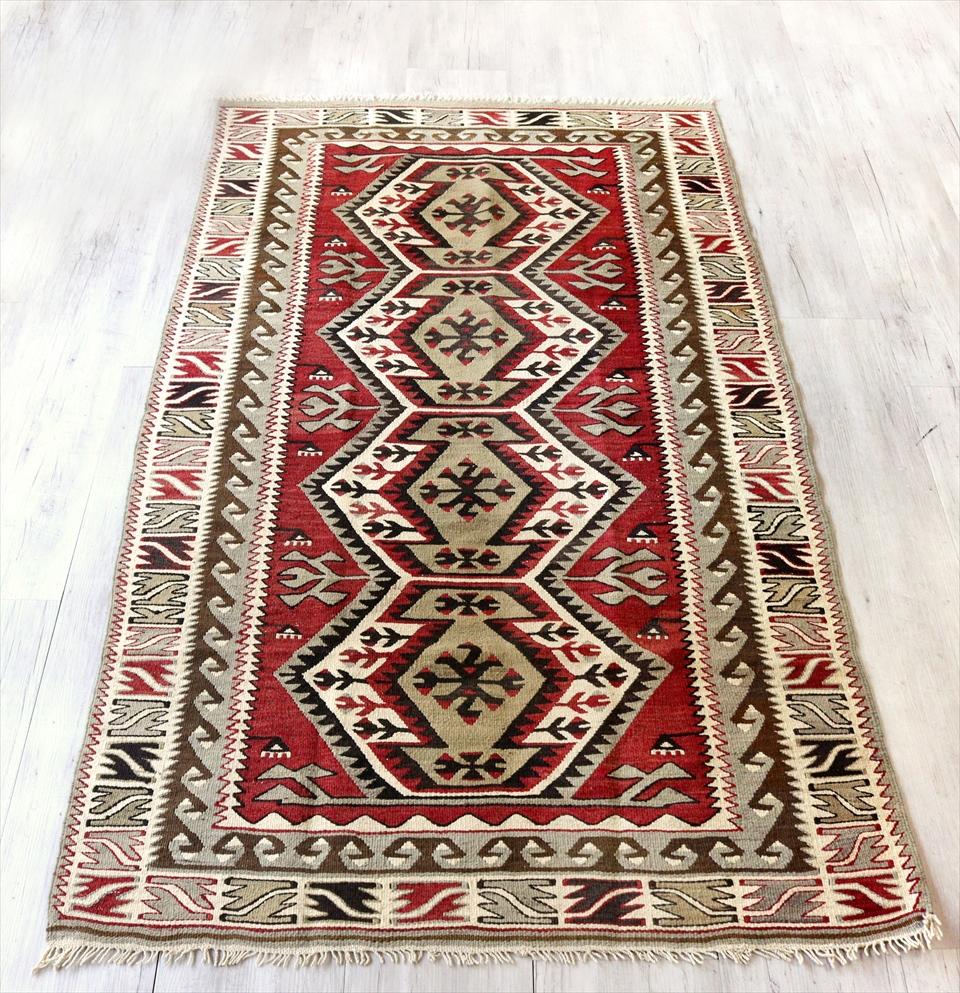 アダナキリム/トルコの手織り ウール194×111cm4つのエリベリンデ