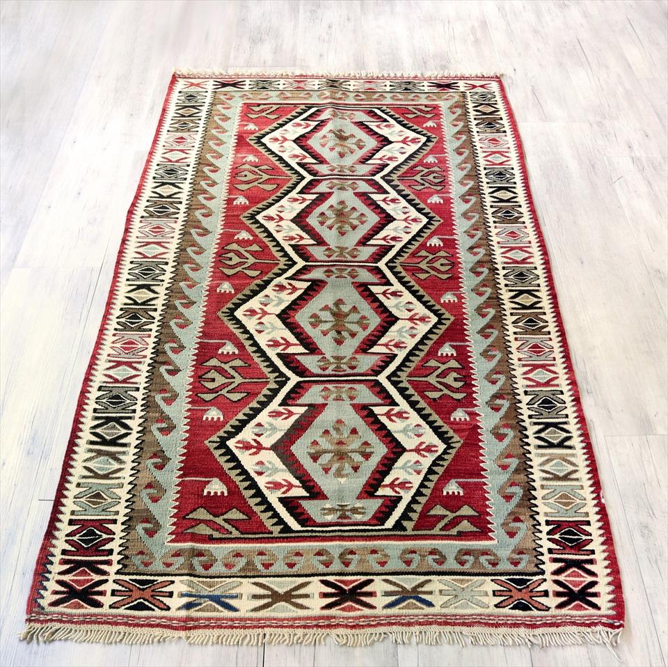 アダナキリム/トルコの手織り ウール192×109cm4つのエリベリンデ