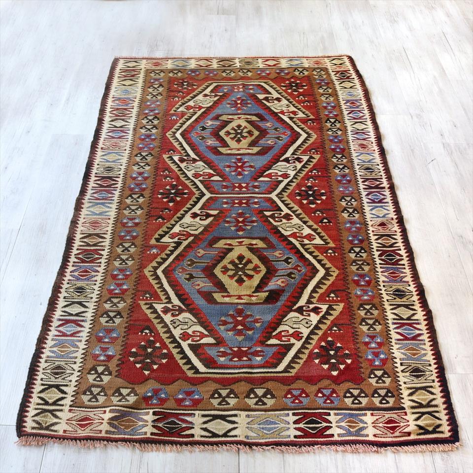 アダナキリム/トルコ手織りラグ ウール100%186×107cmセッヂャーデ 2つのエリベリンデ