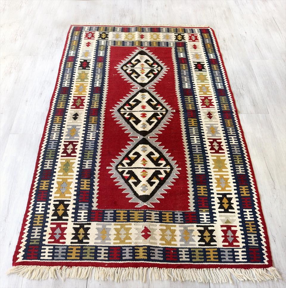 カイセリキリム/トルコ手織りラグ ウール100%177×102cmセッヂャーデ エリベリンデ