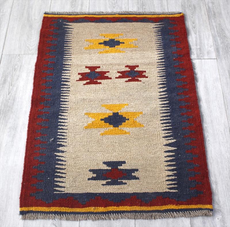 シラーズ・手織りキリム カシュカイ族・ヤストゥクサイズ94×65cm