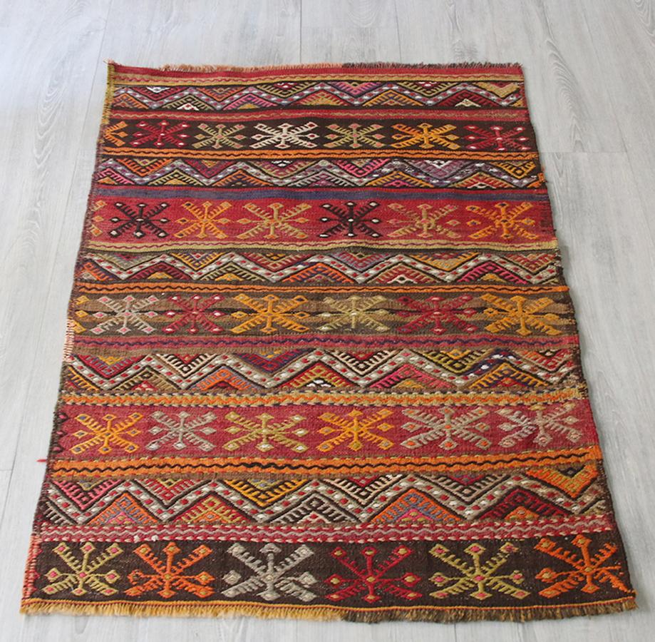 オールドキリム・シワス チュアル(収納袋)のピース102×73cm豊穣を願うベレケット