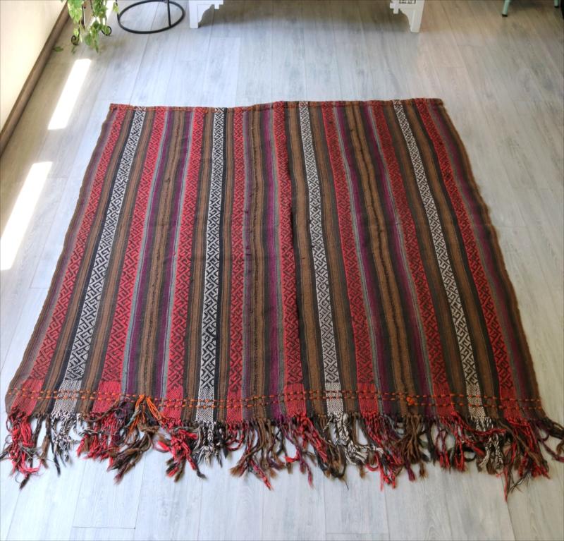 オールドキリム・シールト ジャジム織りのカバー170×177cmセッジャーデサイズ