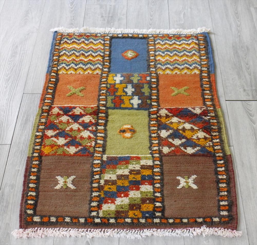 モロッコキリム・タズナフト/ヤストゥクサイズ98×65cm凹凸のあるパイル織りミックス