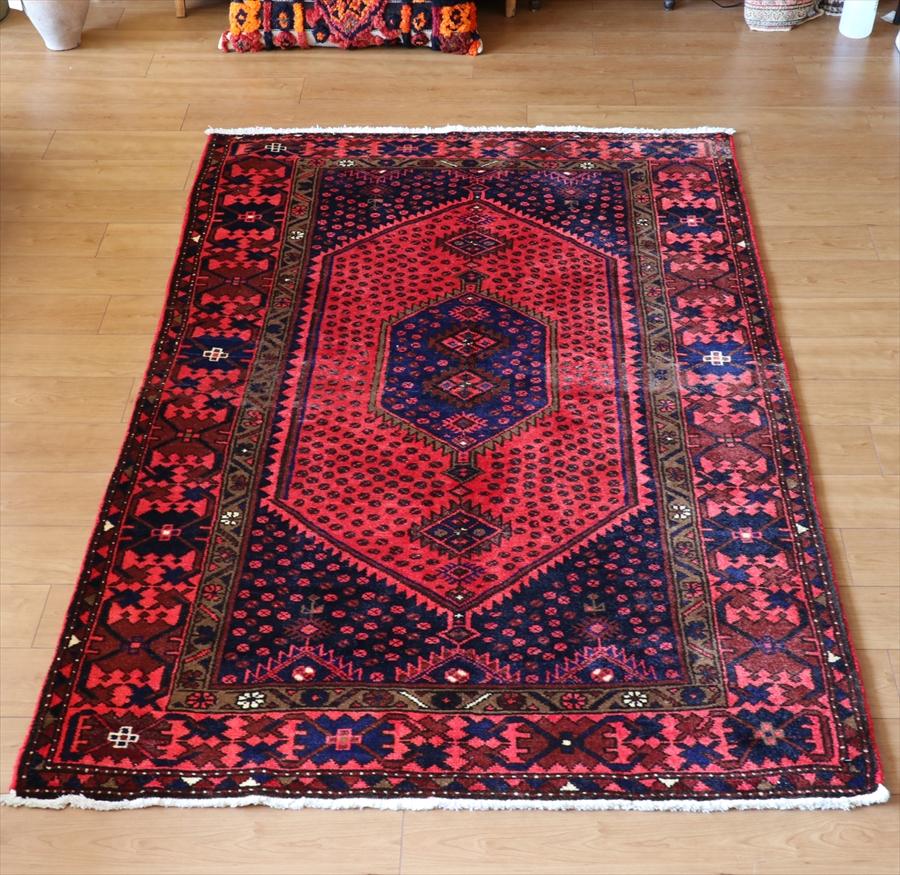 エリアラグ・部族絨毯 トライバルラグ ハルシン202×133cmkhamseh