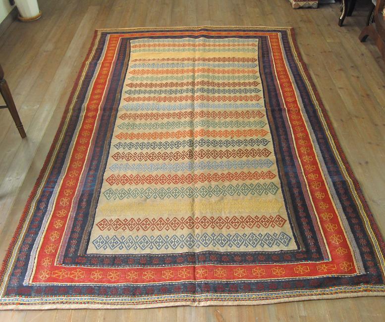 スザニ 複雑なスザンニ織りのソフレ/カリヨラ247×160cm草木染・ゾランヴァリ社キャメルベージュ