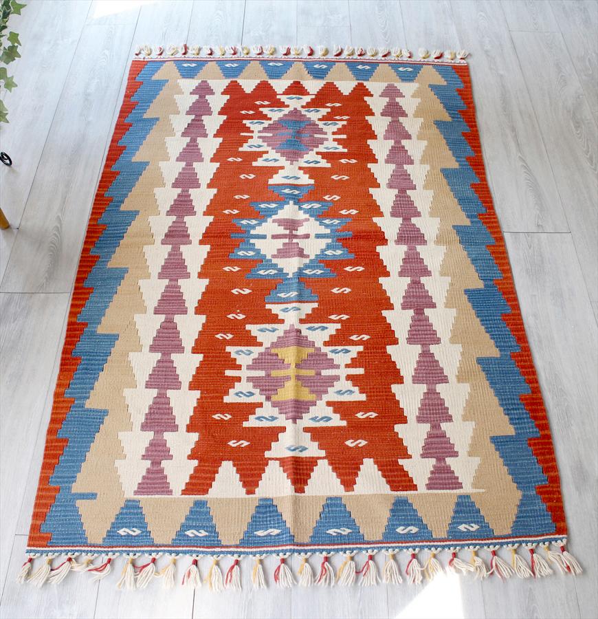手織りのスタンダードカイセリキリム・セッヂャーデ168×108cm3つのメダリオン・イーブルアイ