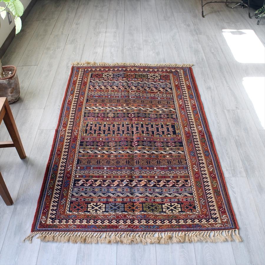 キリムラグ・手の込んだスマック織り/センターラグ157×102cm