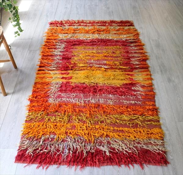 偉大な トゥルtulu/長い飾り糸を施した装飾用オールドキリム200×100cm暖色系のグラデーション, アツマチョウ:5c3fe83f --- canoncity.azurewebsites.net