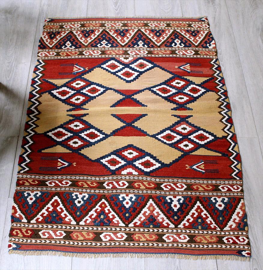 オールドキリム・マナストゥル/ヤストゥク97×62cmアンティーク・コレクションピース Turkish Kilim Vintage