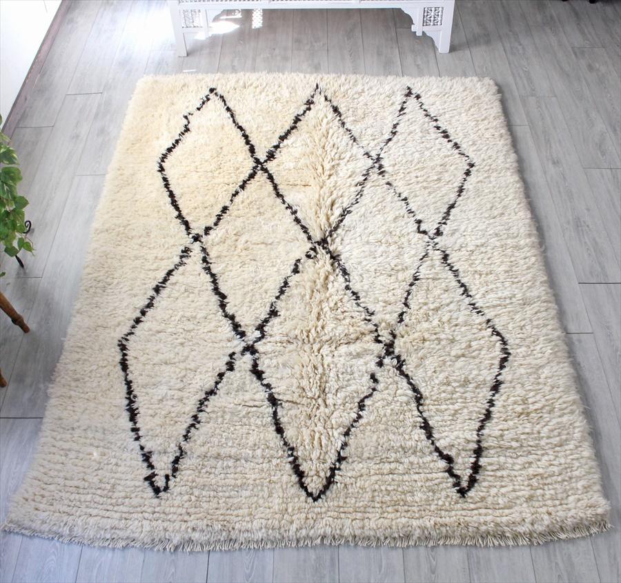 トライバルラグ・部族絨毯/Tulu トゥル トルコ・手織りカーペット235×176cmパイルの長いモロッコラグ風のラグ