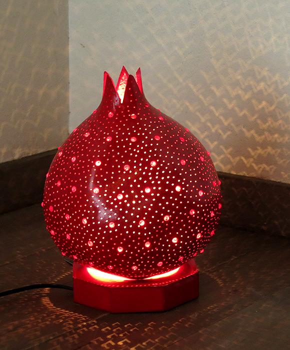 トルコランプ/ひょうたんテーブルランプ・柘榴のようなユニークなランプ/E17電球25W付属 /店舗照明・エスニック・BOHO・輸入照明