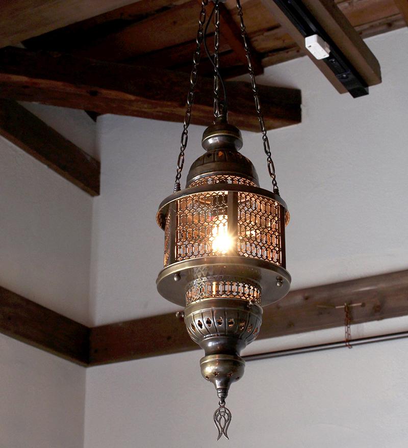 オットマンランプ・トルコエスニック照明/六角形/パシャ・ヘキサゴナルガラスなしM灯具付き・白熱電球付属