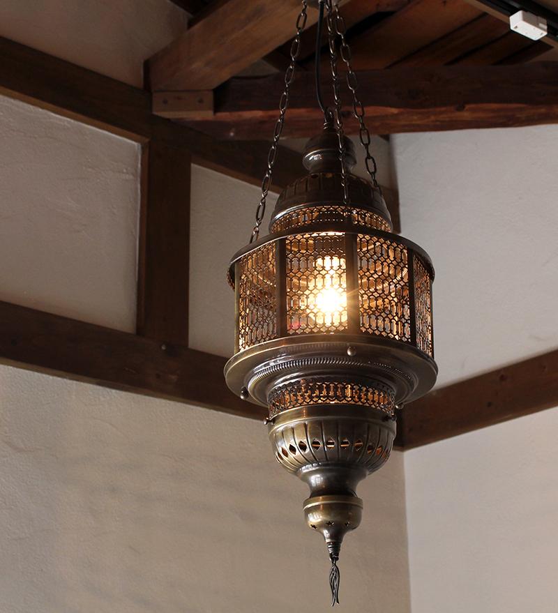 オットマンランプ・トルコエスニックランプ/店舗照明/パシャ・オクタゴナルガラスなしL灯具付き・白熱電球付属