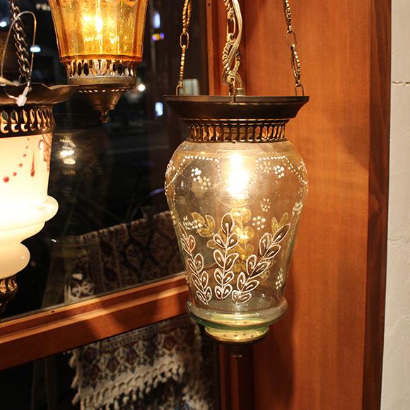 アンティークガラスのトルコランプ・スモークグレー