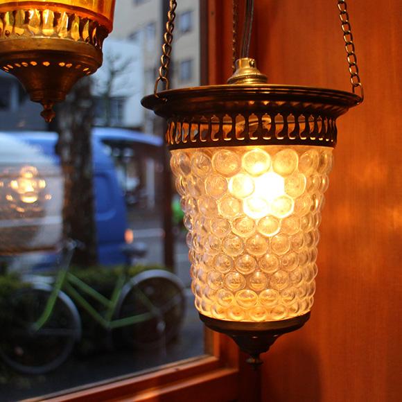 アンティークガラスのトルコランプ・クリアガラス【灯具別売り】