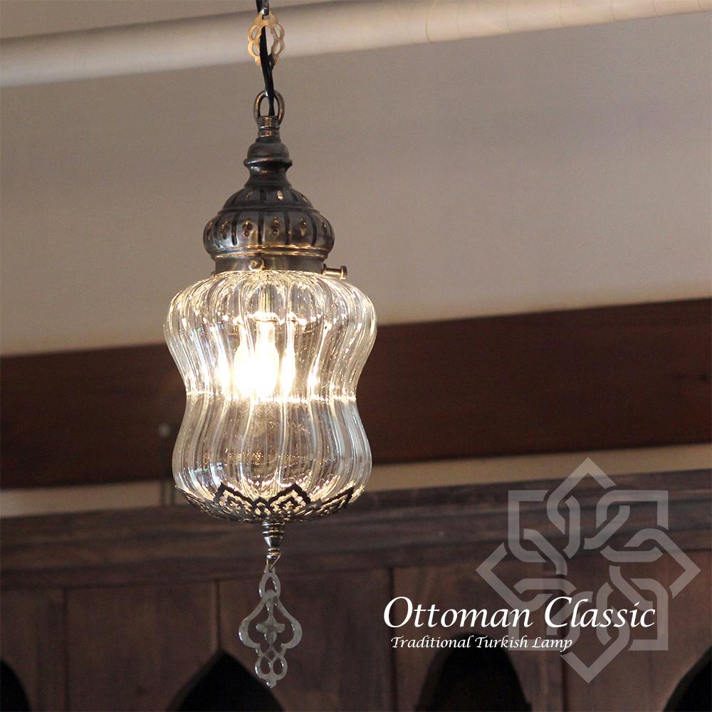 オットマンクラシックガラスシェードランプ・ペンダントライト・ペンダントランプ1灯/Ottoman Classic Traditional Turkish Lamp lphop060sl