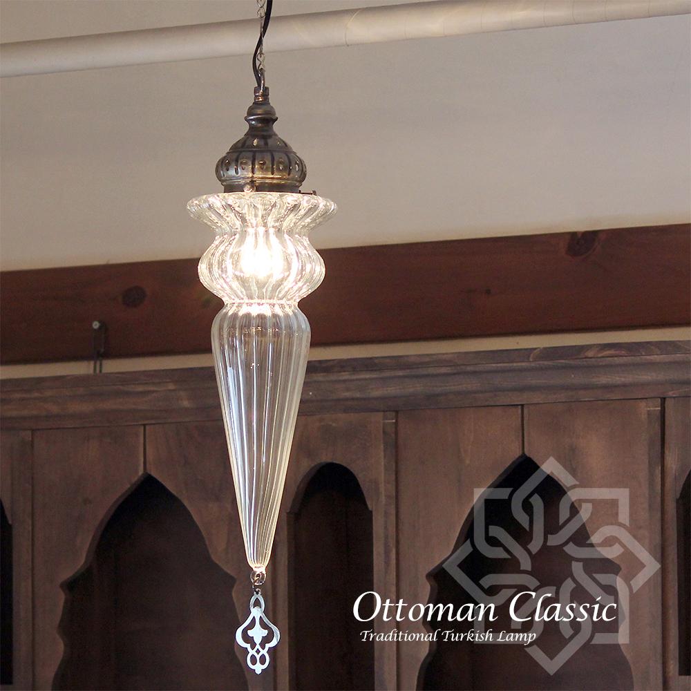 トルコランプ・オットマンクラシックガラスシェードランプ/ペンダントランプ1灯/Ottoman Classic Traditional Turkish Lamp lphop07