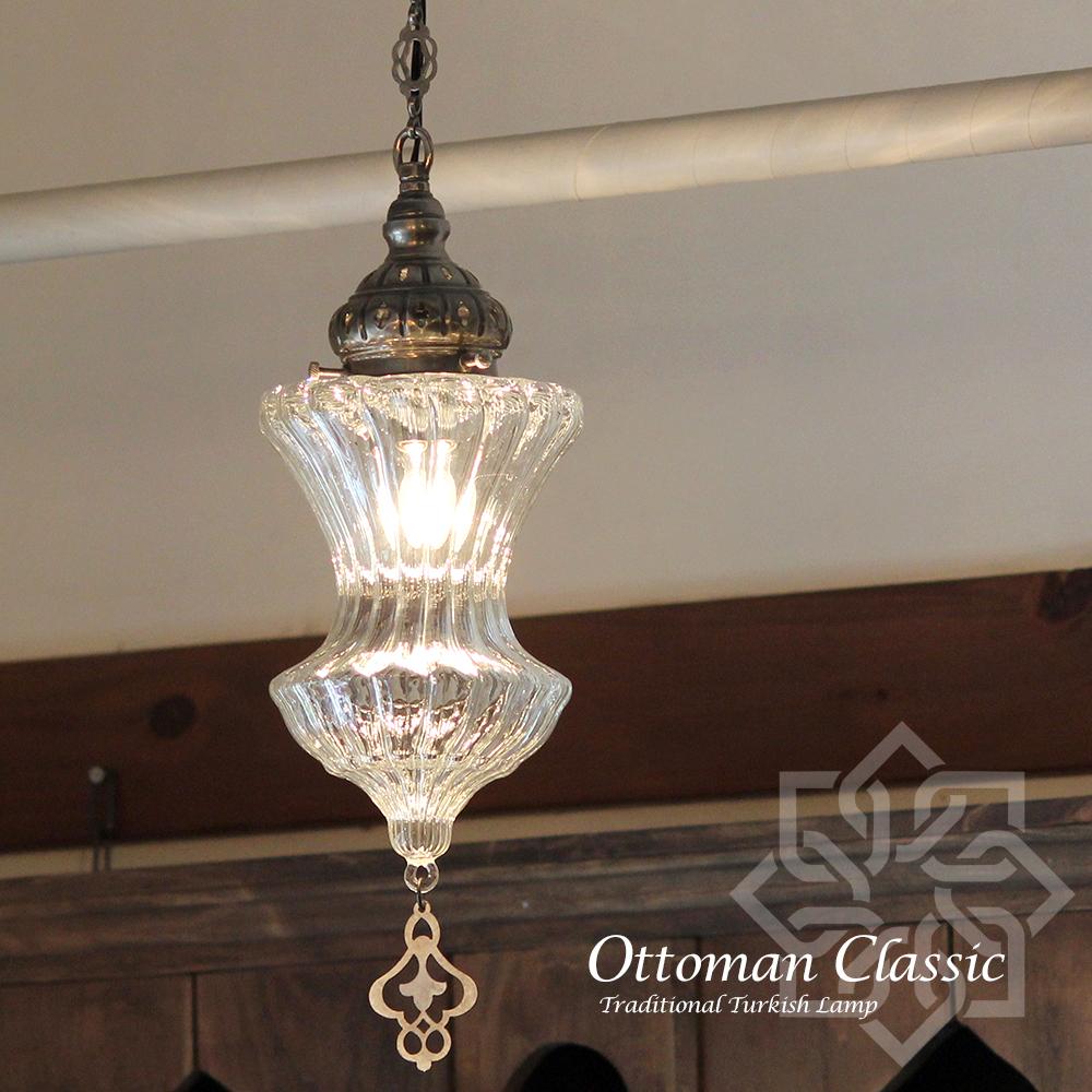 オットマンクラシックガラスシェードランプ・ペンダントライト・ペンダントランプ1灯/Ottoman Classic Traditional Turkish Lamp lphopin