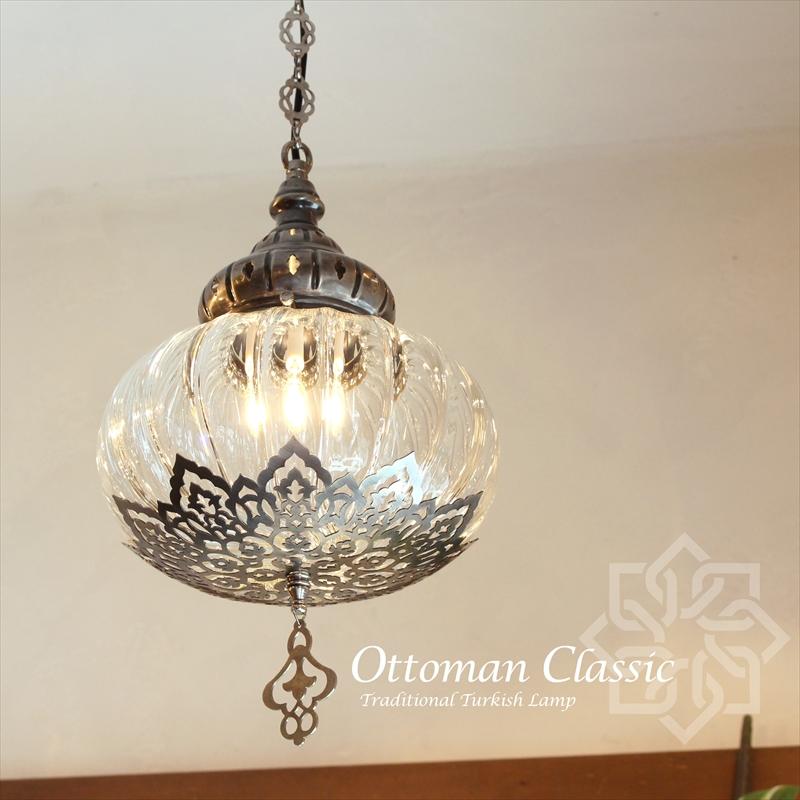 オットマンクラシックガラスシェードランプペンダントライト・ペンダントランプ1灯/Ottoman Classic Traditional Turkish Lamp