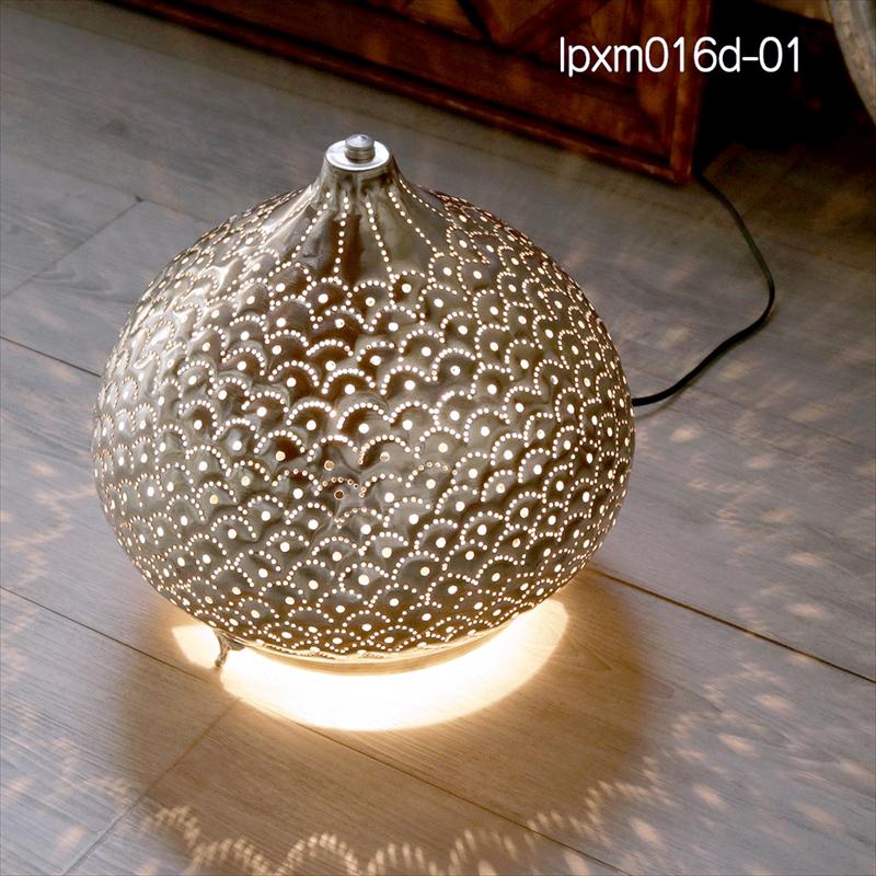 激安正規品 モロッコ モロッコ メタルシェード・スタンドランプ/Moroccan Metal shade LampsΦ27.5cm/Sogan shade シルバー色 Metal/パインアップル, 酒のスーパー足軽:4503a4a9 --- ve75ve.xyz