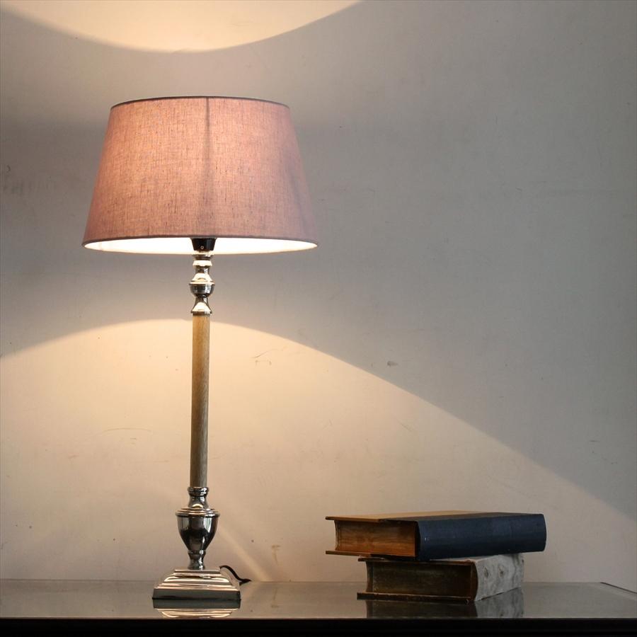 布シェードスタンドランプ/ホルダー式Φ30cm/高さ63cm/ライトグレー ラウンド