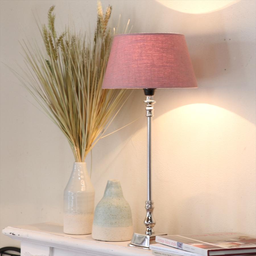 テーブルランプ・布シェードランプ/直径25cmDidim ディディム オールドピンク