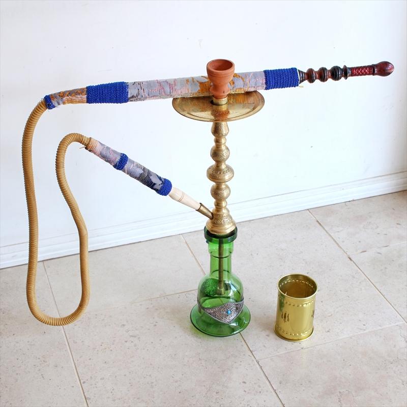 トルコの水タバコ・シーシャ(ナルギレ)・インテリアやオブジェに70.5cm/グリーン/要メンテナンス OUTLET・難あり