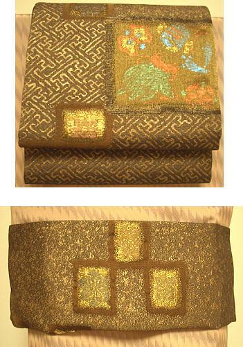 【6/4~6/10 ポイント最大5倍・100円クーポン】市松宝くずし 三重紗 袋帯 1
