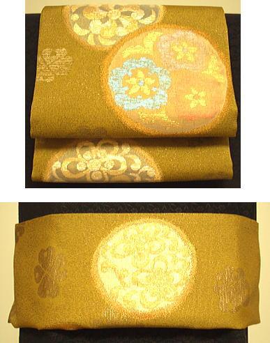 【6/4~6/10 ポイント最大5倍・100円クーポン】桑染色 三重紗 袋帯