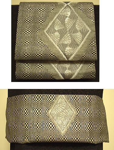 【6/4~6/10 ポイント最大5倍・100円クーポン】菱とり紋 三重紗 袋帯