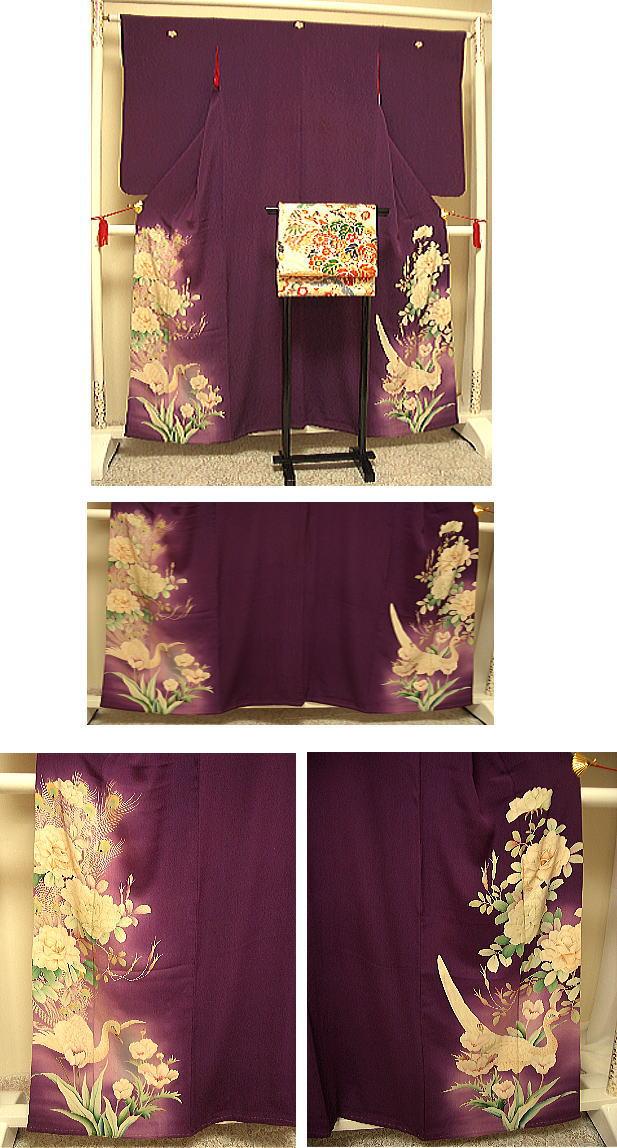 【6/4~6/10 ポイント最大5倍・100円クーポン】アンティーク着物 紫