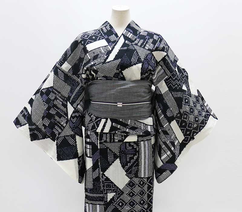 nonoの大人本格浴衣 Nox 「秘密」生成色 綿麻 Mサイズ レディース浴衣【Kimono Factory nono のの キモノファクトリーノノ】