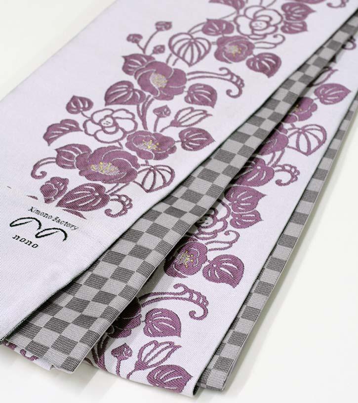 ◆正絹半幅帯◆ゆうなの花(薄桜)様々な帯結びで紬、小紋、色無地に。◇送料無料・代引手数料込み◇お仕立て上がり【Kimono Factory nono のの キモノファクトリーノノ】