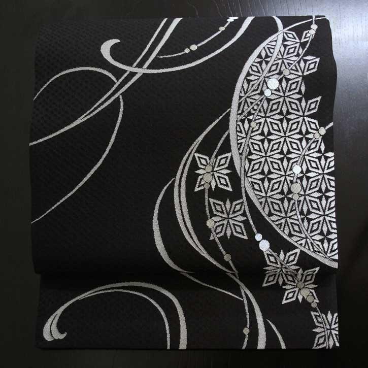 袋帯 惑星 黒【Kimono Factory nono のの キモノファクトリーノノ】