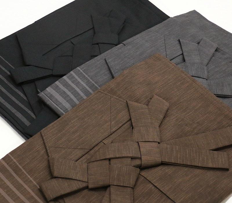 男の綿袴 sideline 洗える 焦げ茶・グレー・ブラック 仕立て上がり 送料・代引手数料込 男着物 メンズ着物 男の着物 袴
