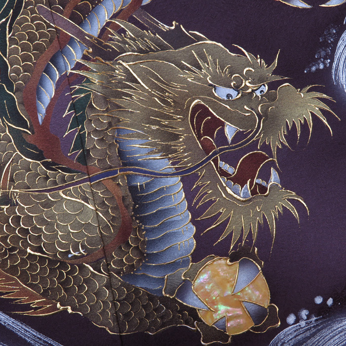 ★きもの北條★ 特選 螺鈿箔 天空にうねる龍 重厚感ある、迫力の逸品 焦げ茶 留袖 A433-4 【未着用】