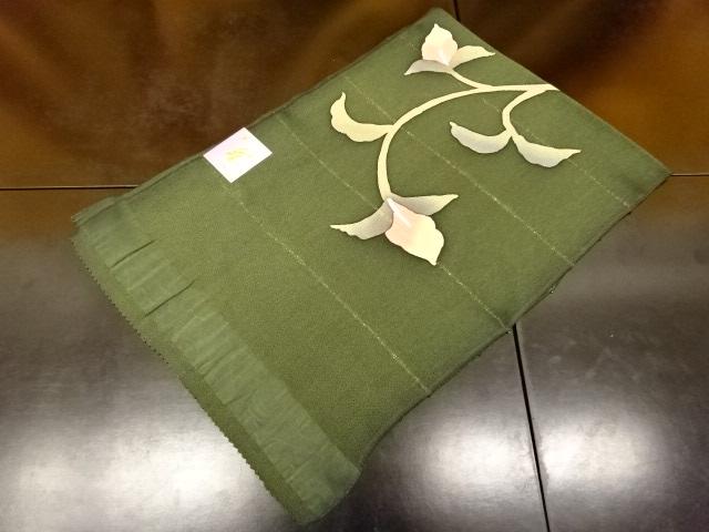 帯揚げ 帯揚 No.3-73 濃緑系色地 日本製品 絹100% 彩 京都府 丹後 縮緬 ちりめん生地 丹後美術織 染色 加工 日本 ろうけつ染め フォーマルに カジュアルに