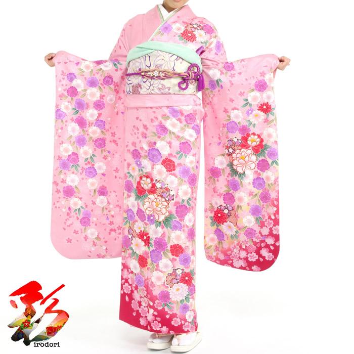 成人式 最安値 振袖フルセットレンタル 160cm~169cm位 2月~11月 新作からSALEアイテム等お得な商品満載 成人式振袖フルセットレンタル 結納などのお祝い出席に いかがでしょうか ピンク p023身長160~169cm高身長の方におススメ成人式式典出席お正月や結婚式 垂多白赤紫桜