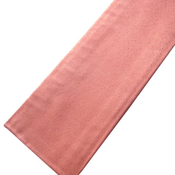 【ゆうパケット対応】正絹 重ね衿 ラメ入り 重衿 伊達衿 重ね襟 伊達襟 訪問着用 礼装用 色無地用 衿ピン付き フォーマル用 振袖用 成人式 広衿 日本製 ピンク