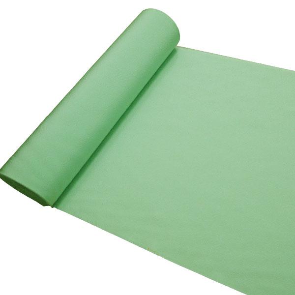 【送料無料】正絹色無地着尺 共八掛付き 丹後ちりめん 黄緑系 反物 未仕立て 黄緑色