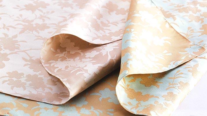 ★風呂敷【むす美◆70-唐長 正絹紋織】-和装 着物 風呂敷 贈り物 折り紙