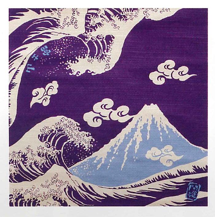 富士山の雄大な姿を手拭に表現しましたちょっとしたプレゼントにも最適です。あす楽対応メール便 祝!世界遺産登録★日本製★《開運亭★富士山 縁起小風呂敷》和装 着物 ガーゼ タオル ハンカチ 和柄 和雑貨 -